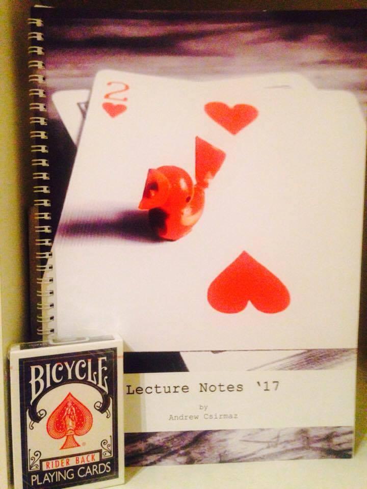 Lecture Notes könyv – Csirmaz András